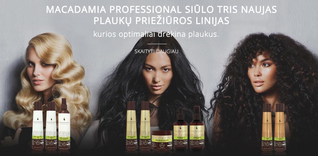 Trys naujos Macadamia Professional plauku prieziuros priemones