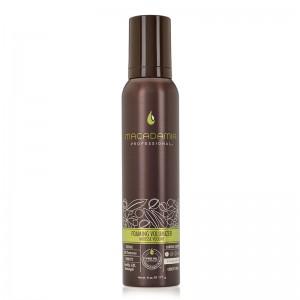 Maitinančios ir apimties suteikiančios Macadamia Professional putos plaukams